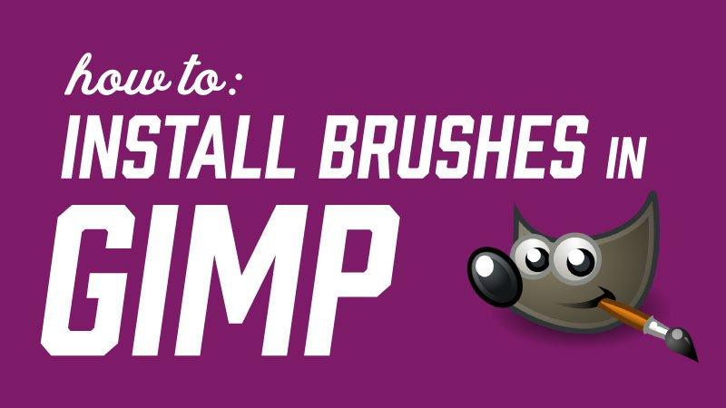 Kako instalirati četke u GIMP-u