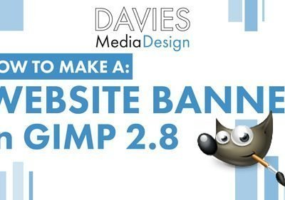 How to Make a Website Banner in GIMP 2.8
