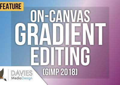 GIMP Tutorial: NEW On-Canvas Gradient Editing Feature