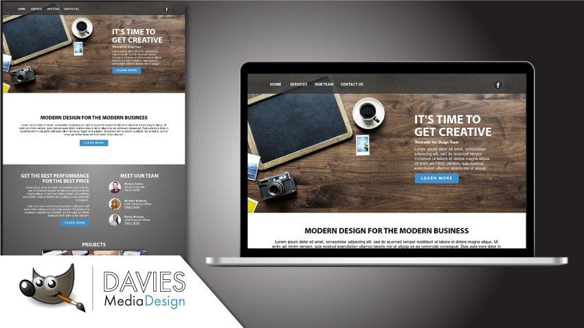 How To Design A Website In Gimp 2018 Davies Media Design