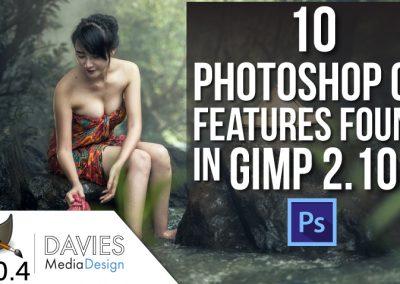 GIMP vs. Photoshop: 10 Photoshop CC Funkce nalezené v GIMP 2.10.4