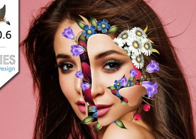Výukový program pro GIMP 2.10: Manipulace s květinami na výšku (Marcelo Monreal)