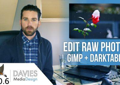 Jak upravit RAW fotografie v GIMP a Darktable