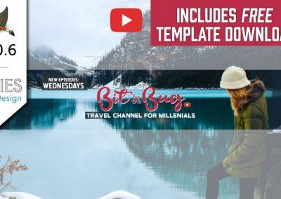 GIMP 2.10 Tutoriál: Vytvořte YouTube Channel Art Design 2018