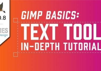 Základy GIMP: Textový nástroj In-Depth Tutorial
