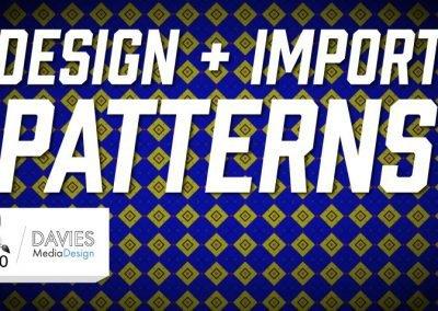 Design + Import vzory snadno Výukový program GIMP 2.10.10