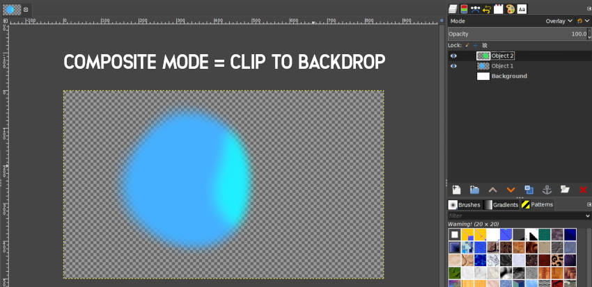 Clip to Backdrop Composite Mode GIMP 2 10