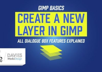 GIMP Basics: Create a New Layer Dialogue Box Features Explained