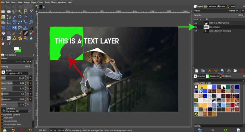 Fix Eraser Tool not Working Multiple Layers