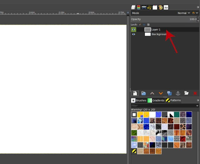 New Layer In the GIMP Layers Panel