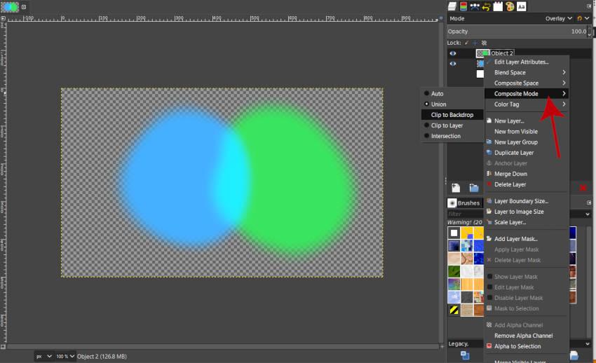 Right Click Layer Menu Composite Mode