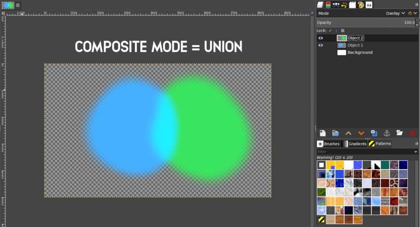 Union Composite Mode GIMP 2 10