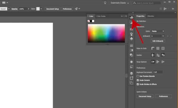 Цветная панель в Illustrator 2019