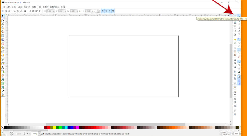 Create New Canvas in Inkscape 2019