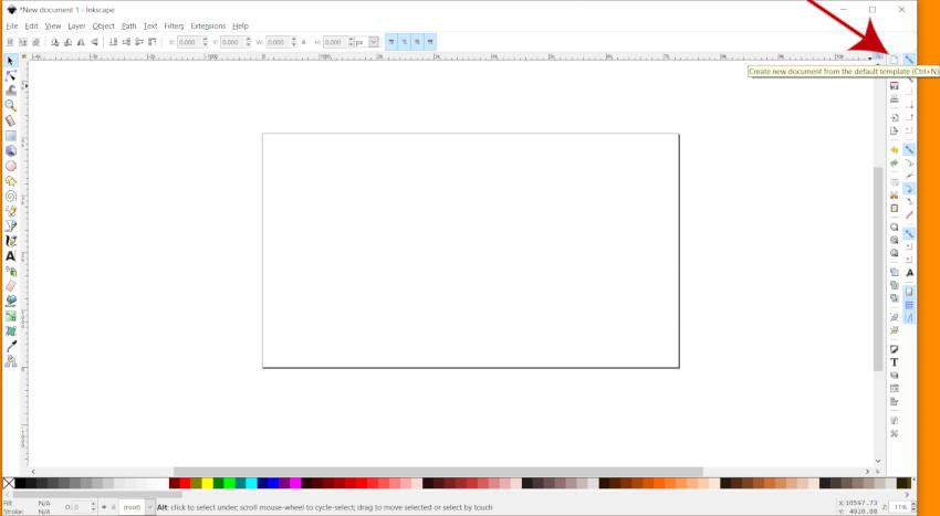 Создать новый холст в Inkscape 2019