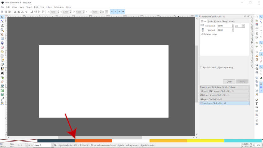Custom Palette Loaded in Swatches Panel Inkscape Tutorial