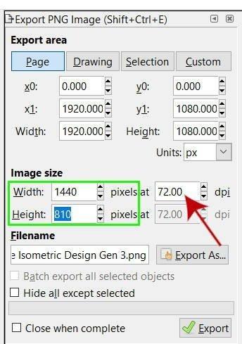 Inkscapeで画像の解像度を下げる