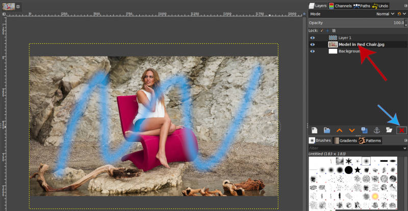 Drag and Drop Image to Create a New Layer in GIMP