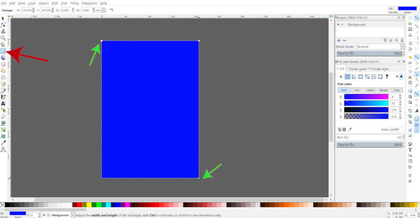 Draw a Rectangle in Inkscape