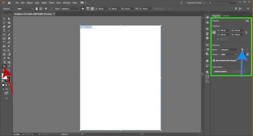 Edit Adobe Illustrator Artboard