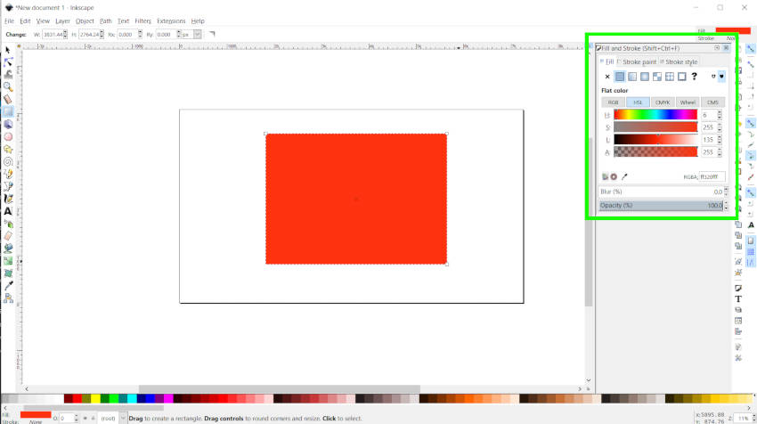 Ispunite i udaljite Dijalog Inkscape vs Illustrator
