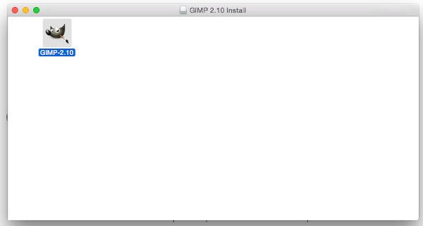 GIMP application folder for MAC