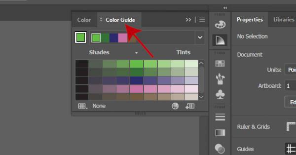 Цветовая панель Illustrator