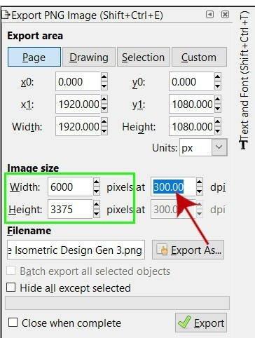 Inkscapeで画像の解像度を上げる