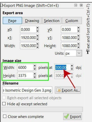 Export SVG to PNG in Inkscape | Davies Media Design