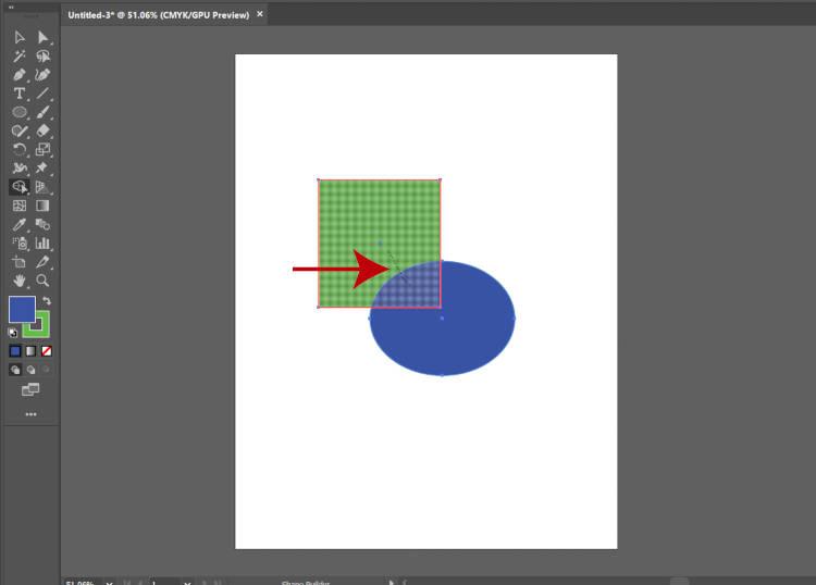 Объединение фигур с помощью инструмента Illustrator Shape Builder