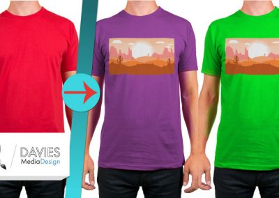 Create Multi-Color T-Shirt Mockups with Any Photo in GIMP