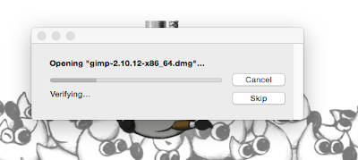 Opening GIMP Download package