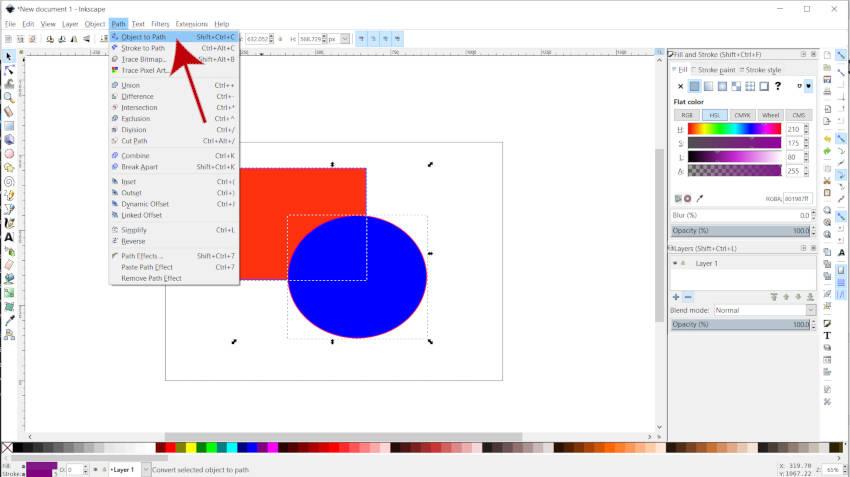 Путь от объекта к пути Inkscape против Illustrator Shape Builder