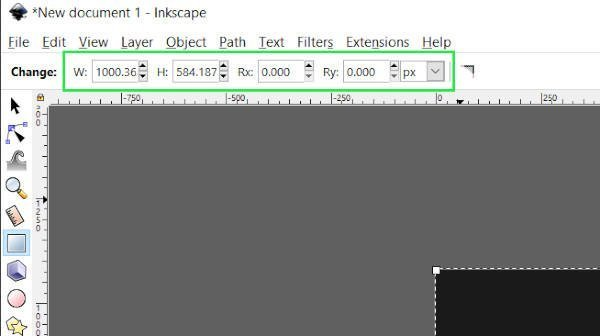 Rectangle Tool Controls Bar Inkscape Tutorial