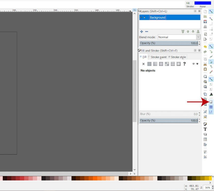 Snap to Page Border Icon Inkscape
