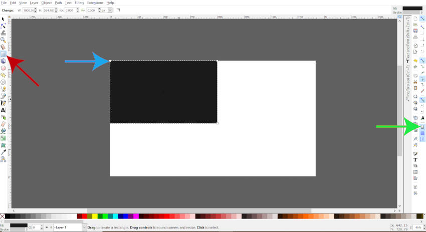 Use the Rectangle Tool in Inkscape