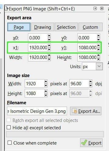 x1とy1のinkscapeエクスポートpng画像