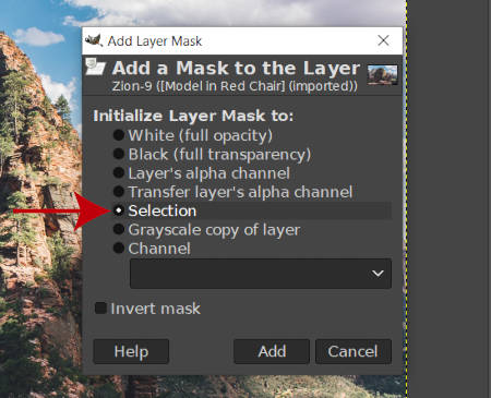 Add a Mask to Selection in GIMP 2019 Tutorial