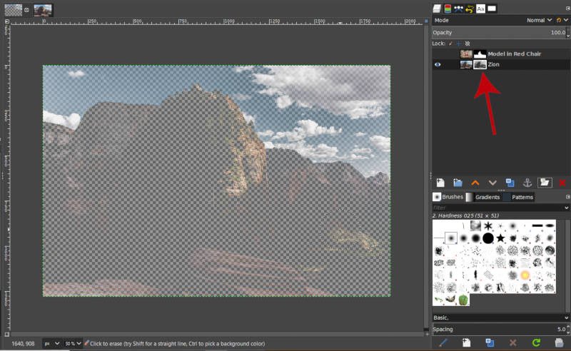 Adding Layer Mask GIMP Grayscale Copy of Layer