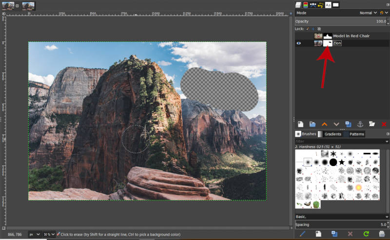 Layers Alpha Channel Layer Mask GIMP