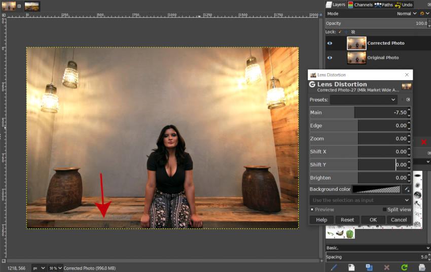 Lencsejavítás alkalmazott GIMP bemutató