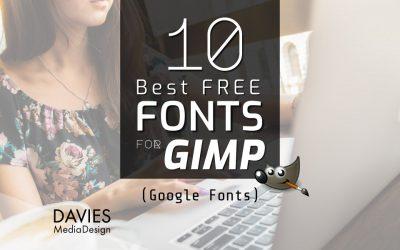 10 bestu ókeypis leturgerðir fyrir GIMP (frá Google leturgerðum)