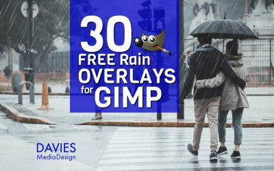 30 FREE Rain Overlays for GIMP in HD