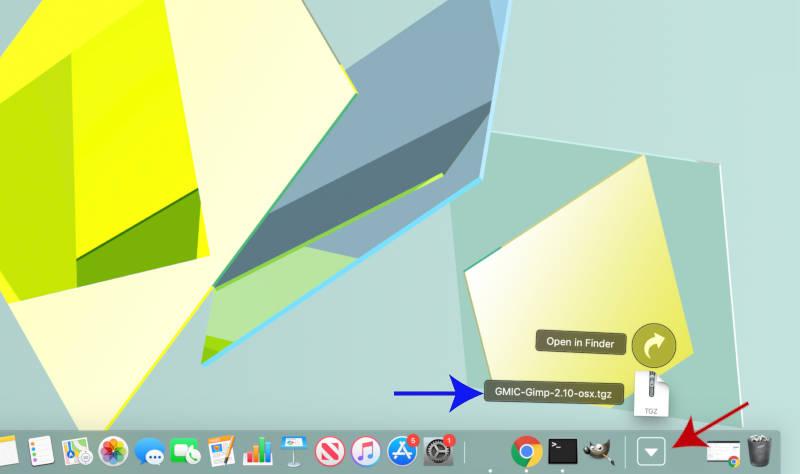 A GMIC letöltése a MAC OSX-hez a GIMP-ben