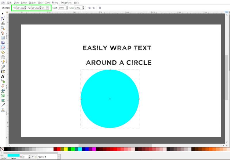Desenhar um círculo com a Ellipse Tool Inkscape