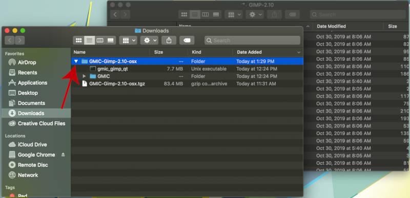 GMIC QT Töltse le a GIMP fájlt a MAC-hoz