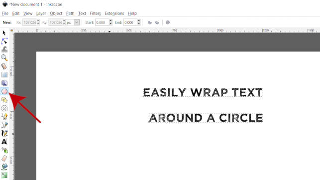 Ferramenta Inkscape Ellipse Wrap Text Tutorial Around Circle