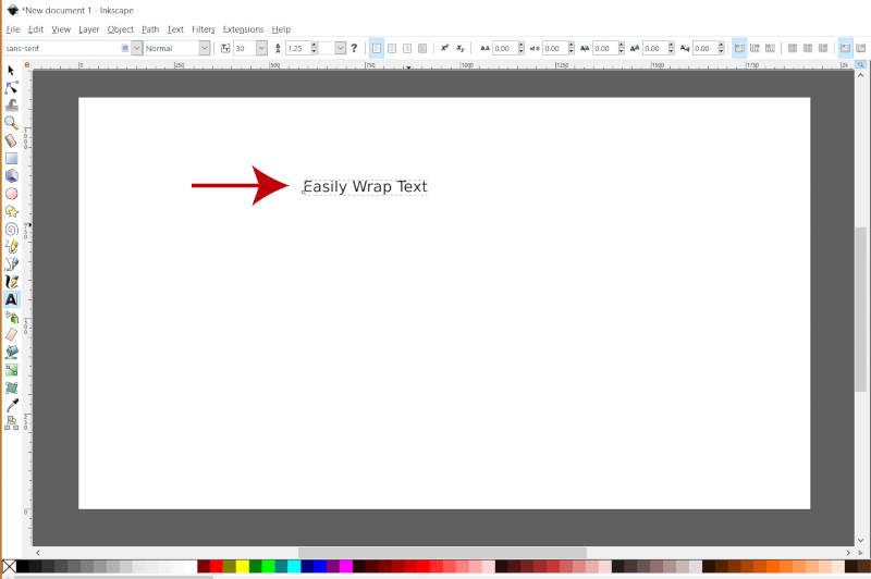 Linha do Inkscape de texto Quebrar texto ao redor do círculo