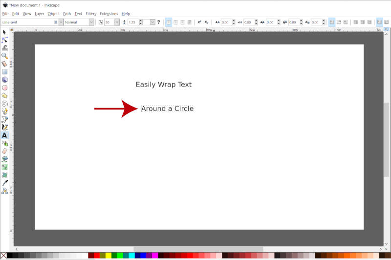 Inkscape Second Line of Text Wrap Text Around Circle