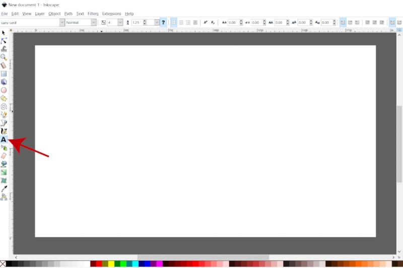 Ferramenta de texto do Inkscape Quebrar texto ao redor do círculo
